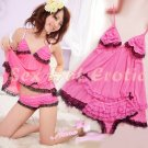 Sexy Peach Lingerie Hot & Cute women underwear sleep dress badydoll BD#02