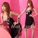 Lace Black sexy Lingerie Hot & Cute women underwear sleep dress badydoll BD#03