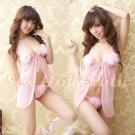 badydoll Sexy Pink Lingerie Hot & Cute women underwear sleep dress BD#07