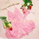 Pink Lingerie Hot & Cute women sexy underwear sleep dress badydoll BD#09
