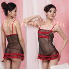 Black Sexy Lingerie Hot & Cute women underwear sleep dress badydoll BD#12