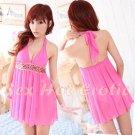 Pink Sexy Lingerie Hot & Cute women underwear sleep dress badydoll BD#14