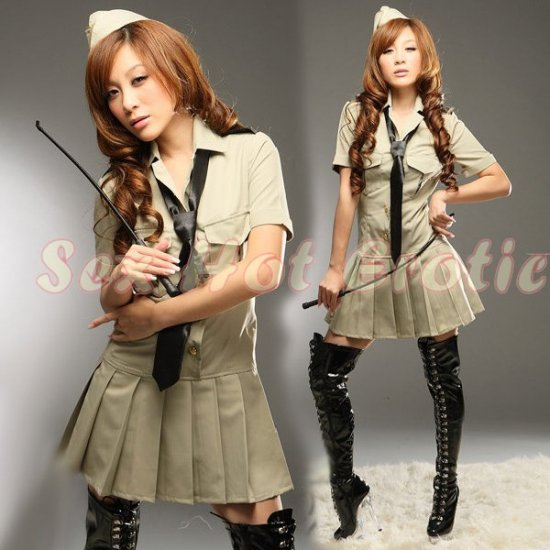 Camouflage Costume Cosplay coat Lingerie Hot Sexy Cute women badydoll CC01
