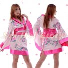 Hot & Sexy Lace Japanese Kimono Lingerie Costume Sleep Dress KM#06