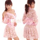Hot & Sexy Lace Japanese Kimono Lingerie Costume Sleep Dress KM#17