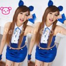 Sexy & Cute Costume Kitty Cat Lingerie Hot Puss Cat Cosplay Dress with Ears CC# 03