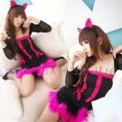 Sexy & Cute Costume Kitty Cat Lingerie Hot Puss Cat Cosplay Dress with Ears CC# 06