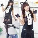 Sexy & Cute Costume Kitty Cat Lingerie Hot Puss Cat Cosplay Dress with Ears CC# 09