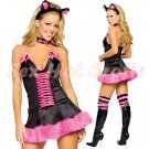 Sexy & Cute Costume Kitty Cat Lingerie Hot Puss Cat Cosplay Dress with Ears CC# 16