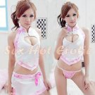 Chinese Cheongsam Costume Cosplay coat Lingerie Hot Sexy Cute women badydoll CS08