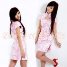 Chinese Cheongsam Costume Cosplay coat Lingerie Hot Sexy Cute women badydoll CS17B  Pink