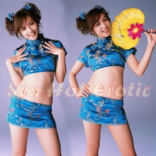 Chinese Cheongsam Costume Cosplay coat Lingerie Hot Sexy Cute women badydoll CS19