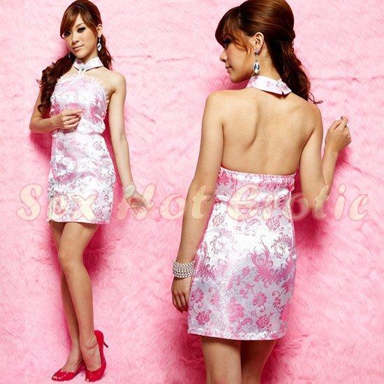 Chinese Cheongsam Costume Cosplay coat Lingerie Hot Sexy Cute women badydoll CS23