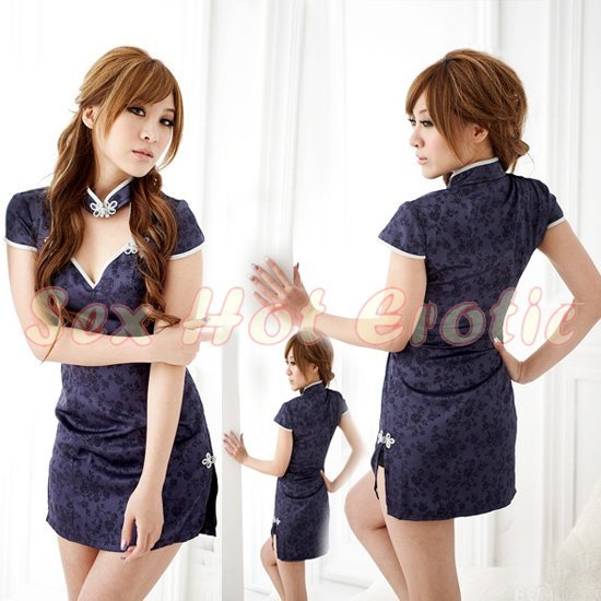 Chinese Cheongsam Costume Cosplay coat Lingerie Hot Sexy Cute women badydoll CS26