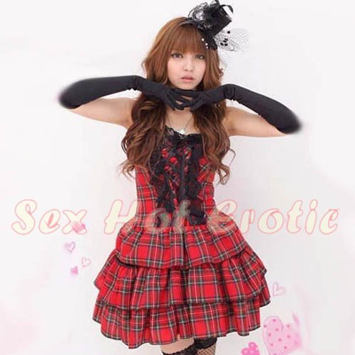 New Lolita Princess Girl Cosplay dress Costume lace cake Cute & Sexy Lingerie LO# 04