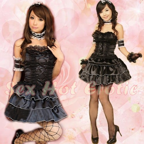 New Lolita Princess Girl Cosplay dress Costume lace cake Cute & Sexy Lingerie LO# 12