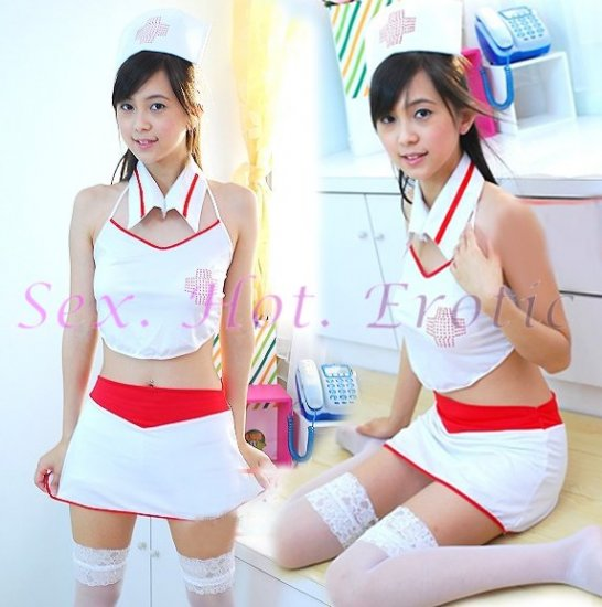 New Hot Women Lingerie Sexy Nurse Cosplay Adult Costume Dress NU# 01