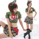 New Hot Women Lingerie Sexy Nurse Cosplay Adult Costume Dress NU# 02