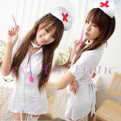 New Hot Women Lingerie Sexy Nurse Cosplay Adult Costume Dress NU# 03