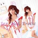 New Hot Women Lingerie Sexy Nurse Cosplay Adult Costume Dress NU# 04