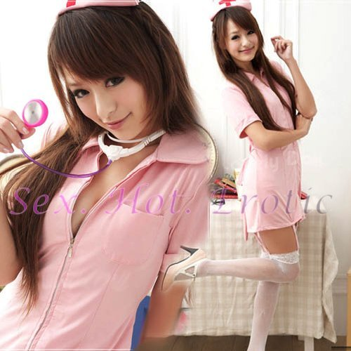 New Hot Women Lingerie Sexy Nurse Cosplay Adult Costume Dress NU# 05
