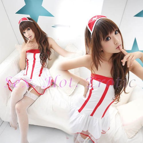 New Hot Women Lingerie Sexy Nurse Cosplay Adult Costume Dress NU# 08