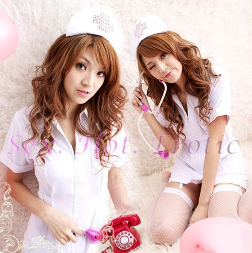 New Hot Women Lingerie Sexy Nurse Cosplay Adult Costume Dress NU# 13