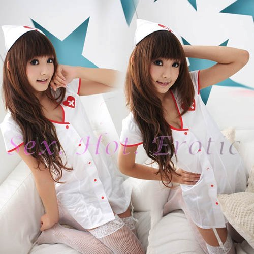 New Hot Women Lingerie Sexy Nurse Cosplay Adult Costume Dress NU# 14
