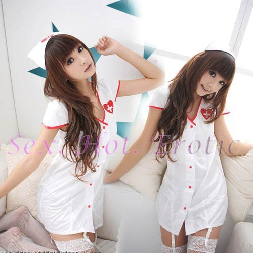New Hot Women Lingerie Sexy Nurse Cosplay Adult Costume Dress NU# 16