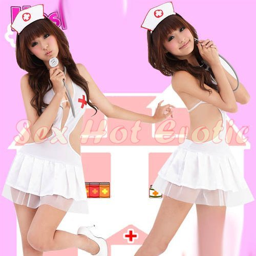 New Hot Women Lingerie Sexy Nurse Cosplay Adult Costume Dress NU# 20