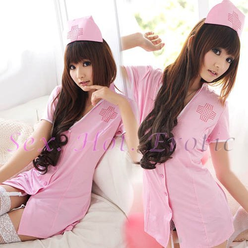 New Hot Women Lingerie Sexy Nurse Cosplay Adult Costume Dress NU# 22
