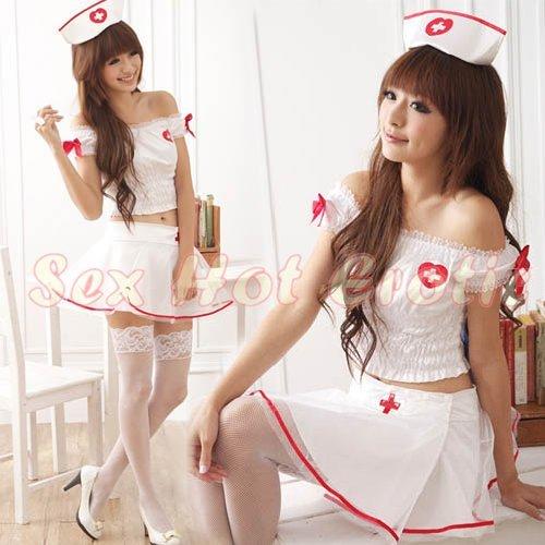 New Hot Women Lingerie Sexy Nurse Cosplay Adult Costume Dress NU# 23