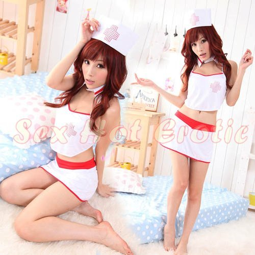 New Hot Women Lingerie Sexy Nurse Cosplay Adult Costume Dress NU# 27