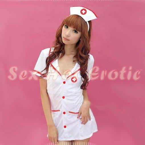 New Hot Women Lingerie Sexy Nurse Cosplay Adult Costume Dress NU# 31