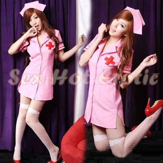 New Hot Women Lingerie Sexy Nurse Cosplay Adult Costume Dress NU# 32