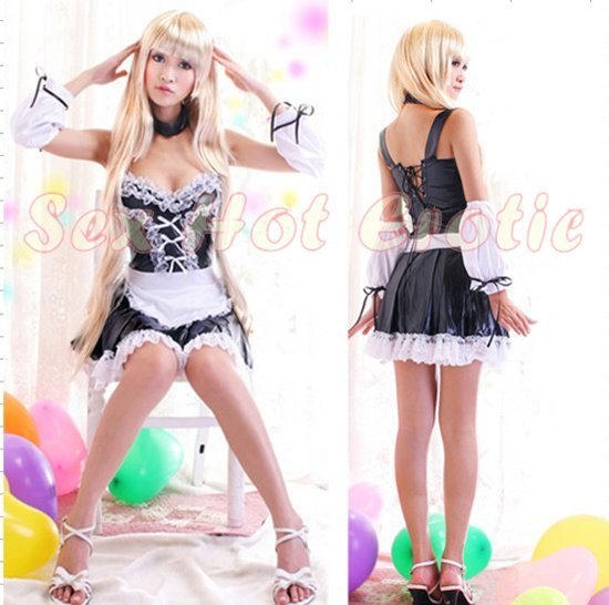 French Maid Costume Cosplay Japanese coat Lingerie Hot Sexy Cute women badydoll MC11