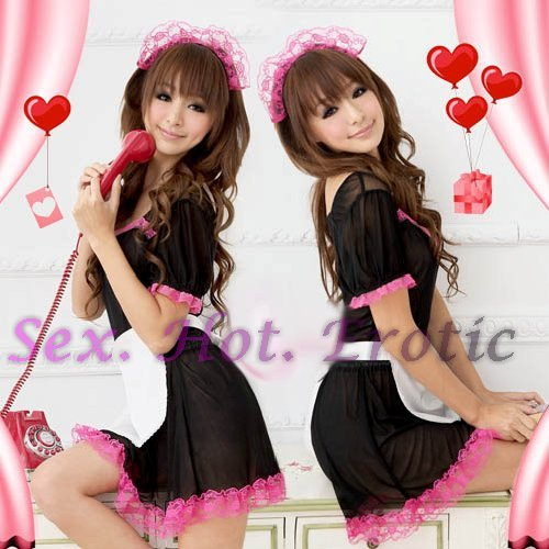 French Maid Costume Cosplay Japanese coat Lingerie Hot Sexy Cute women badydoll MC14