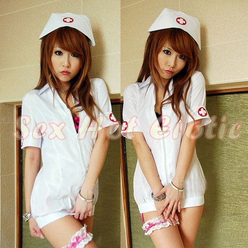 New Hot Women Lingerie Sexy Nurse Cosplay Adult Costume Dress NU# 33
