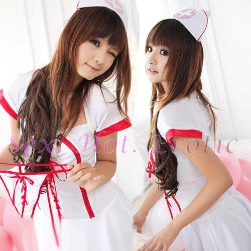 New Hot Women Lingerie Sexy Nurse Cosplay Adult Costume Dress NU# 37