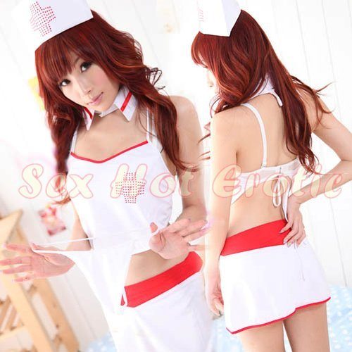 New Hot Women Lingerie Sexy Nurse Cosplay Adult Costume Dress NU# 39