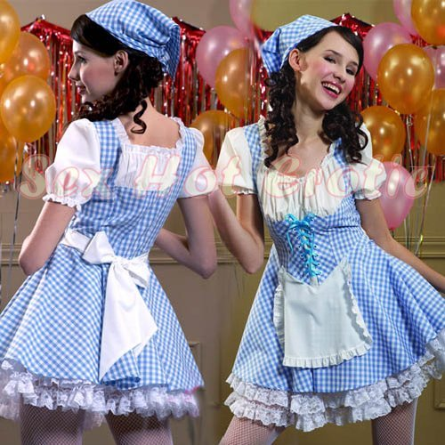 French Maid Costume Cosplay Japanese coat Lingerie Hot Sexy Cute women badydoll MC19
