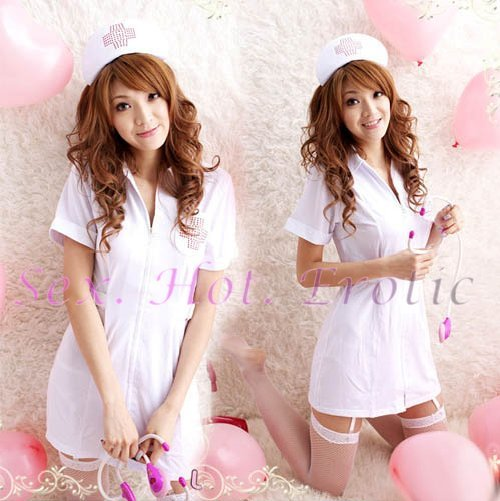 New Hot Women Lingerie Sexy Nurse Cosplay Adult Costume Dress NU# 43