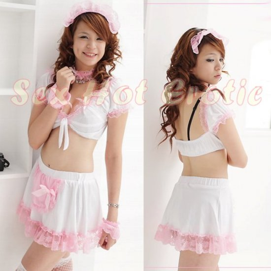 French Maid Costume Cosplay Japanese coat Lingerie Hot Sexy Cute women badydoll MC22