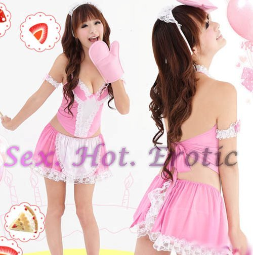 French Maid Costume Cosplay Japanese coat Lingerie Hot Sexy Cute women badydoll MC27