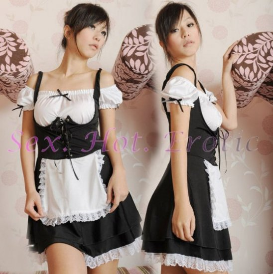 French Maid Costume Cosplay Japanese coat Lingerie Hot Sexy Cute women badydoll MC31