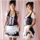 French Maid Costume Cosplay Japanese coat Lingerie Hot Sexy Cute women badydoll MC32