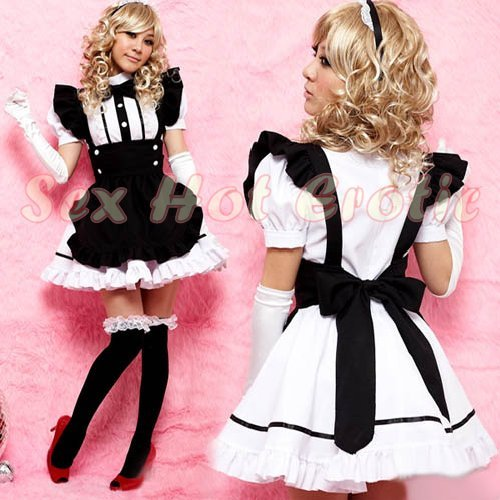 French Maid Costume Cosplay Japanese coat Lingerie Hot Sexy Cute women badydoll MC40