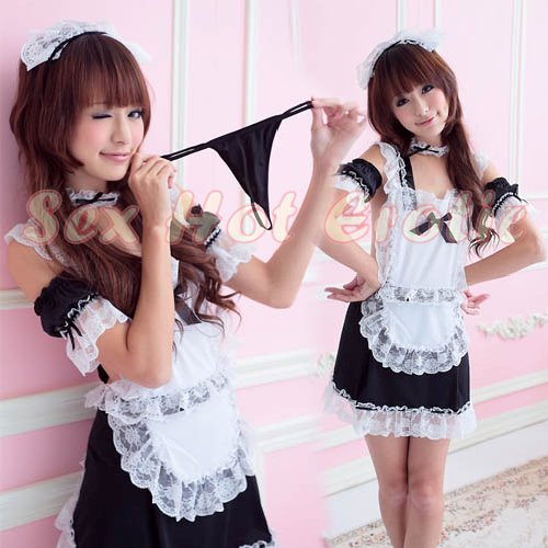 French Maid Costume Cosplay Japanese coat Lingerie Hot Sexy Cute women badydoll MC42