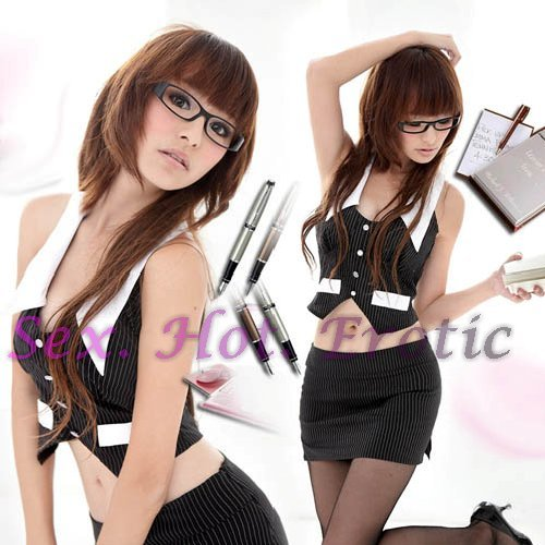 New Sexy Secretary Lingerie Hot Teacher Cosplay Adult Women Costume Dress OL# 01