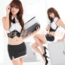 New Sexy Secretary Lingerie Hot Teacher Cosplay Adult Women Costume Dress OL# 02